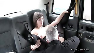 Fake taxi driver shoves big cock in mature