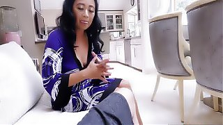 Asian mature stepmom takes a care about her stepson