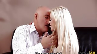 DADDY4K. Mature businessman cums in blonde's mouth to...