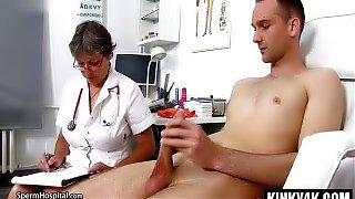 Hot mature bondage with cumshot