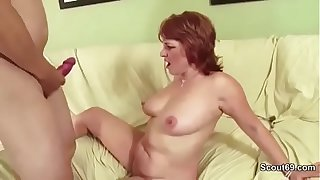 MILF Mother Seduce Young Boy to Fuck When Husband away