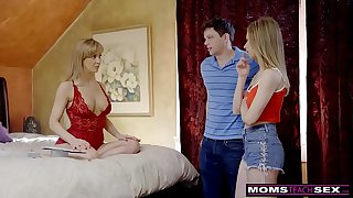 MomsTeachSex - Busty MILF Gets Hot Mother's Day Threesome! S8:E4
