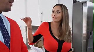Stepmom of wide hips fucks her son for the first time