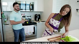 FamilyStrokes - Big Ass Milf Teases Her Stepson And Gets Fucked Hardcore