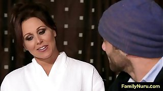 Hot milf mother have sex with stepson