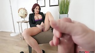 MILF Hot Mom teaches son to be assertive!