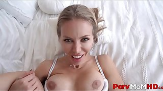 Big Tits MILF Step Mom Lets Step Son Fuck Her While His Dad Is Gone POV