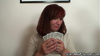 Pussy hairy granny sucking and riding