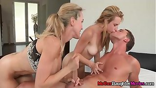 Moms And StepDaughter Fuck Teen Boy During Terrific Threesome