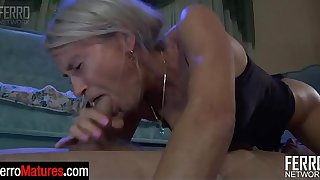 Blonde milf with a still gorgeous looking bod getting her fix of young meat