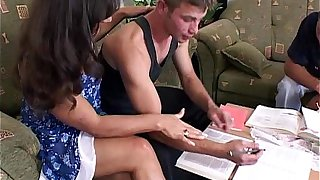 College Boys Anal Penetration With A Brunette Tutor