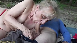 extreme horny 86 years old granny rough outdoor banged