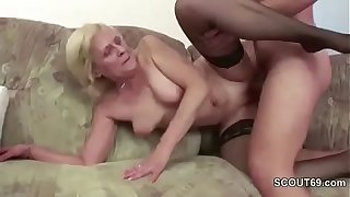 Young Boy Seduce His 67yr old Granny to Fuck and Facial