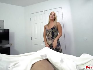Mom lending her stepson some brain for a cock