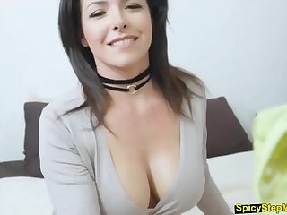 My brunette stepmom is a pervert slut when Pa is away